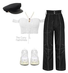 """""""Untitled #1223"""" by thecurvyfashionistaa ❤ liked on Polyvore featuring Balenciaga, Vejas and LowLuv"""