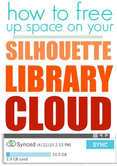 How to Free Up Silhouette Cloud Space Quickly and Easily (Silhouette School) Silhouette Curio, Silhouette Cameo Machine, Silhouette Vinyl, Silhouette America, Silhouette Design, Silhouette Files, Silhouette Cameo Tutorials, Silhouette Projects, Studio Cloud