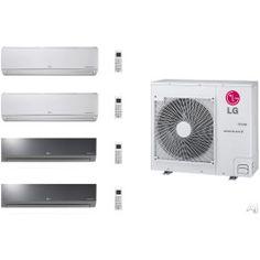 LG Art Cool Mirror LGACMS36KB12 4 Room Mini Split System with Heat Pump, Low Ambient Operation, R-410A Refrigerant, Auto Restart and Auto Operation