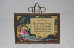 Buzza motto framed art deco print My Mother