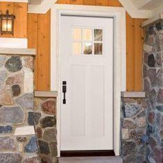Feather River Doors, 6 Lite Craftsman Primed Smooth Fiberglass Entry Door, GK3190 at The Home Depot - Mobile