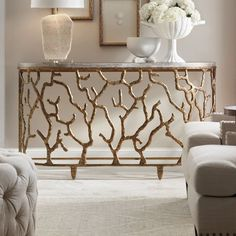 Looking for the perfect piece of jewelry for your room? Look no further than line of accents. Select from character-filled and functional console tables. Place front and center of your hallway, living room or foyer and top with things you love. Now that's instant style.