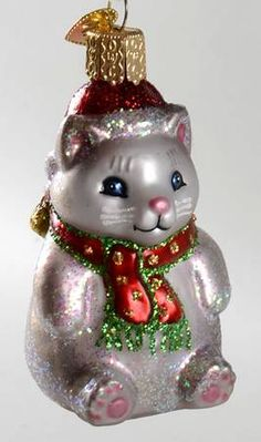 old world christmas christmas cats christmas tree ornaments vintage christmas mean cat cat decor kitty christmas tree toppers kitten - Cat Christmas Decorations
