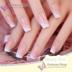 Acrylic Nails Full Cover False Nail Fake Nail French Nail Tips Pre Design Nail With Glue Fake Nails French, French Tip Acrylic Nails, Nail French, Nail Art Designs, Acrylic Nail Designs, New Year's Nails, Red Nails, Graduation Nails, Manicure