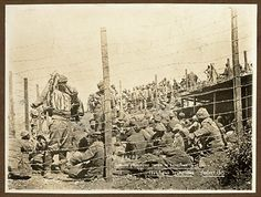 Gallipoli during World War 1 / G. Downes. ANZAC - Turkish prisoners, August 1915.  State Lib. of NSW Collection.