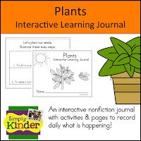 Plants Learning Journal from Simply Kinder has lots of activities for when you grow plants.  Just add nonfiction books.  $