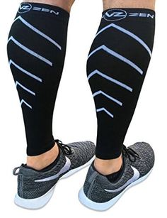 791195bc79 Calf Compression Sleeves - Footless Leg Compression socks for Men or Women  - Improve circulation for Running, Cycling, Travel, Pregnancy - 1 Pair