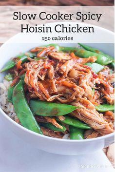 Slow Cooker Spicy Hoisin Chicken Thighs - Slender Kitchen
