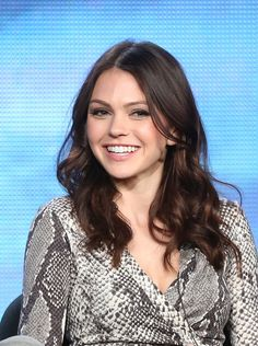 "Aimee Teegarden of the television show ""Star-Crossed"" speaks onstage during the CW portion of the 2014 Winter TCA tour at the Langham Hotel on January 15, 2014 in Pasadena, California. - Winter TCA Tour: Day 7"