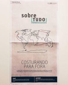 """121 curtidas, 17 comentários - Marina Burity (@bordadosdaburity) no Instagram: """"Hoje tem um bordado exclusivo meu ilustrando a capa de um caderno da @folhadespaulo! 😊 Quem quiser…"""""""