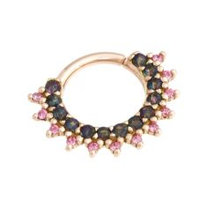 BVLA Gem Kolo. I'd do it in yellow gold with garnet cabochons for the bigger gems and citrines for the smaller ones, so that it looks like a sun.
