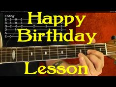 EASY!! How to Play HAPPY BIRTHDAY on Guitar ( 3 Different Ways: Easy, Rock and Chord Melody ) - YouTube