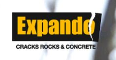 EXPANDO is an expansive mortar chemical that cracks rocks and concrete. It is a concrete cutting, granite breaking and general demolition solution. This non-explosive demolition agent is easy to use, cost effective and a safer option for silently breaking up hard materials like rock or concrete. Simply drill, mix and pour.