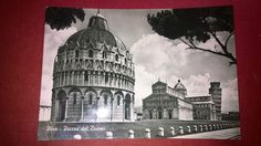 PISA Italy The cathedral square  old post card  POSTED 1956