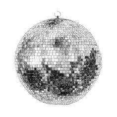 pen and ink disco ball. cool