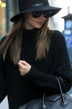 black hat + sweater