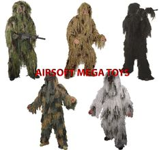 SNIPER GHILLIE SUIT  Lightweight Suits ,HALLOWEEN -AIRSOFT -PAINTBALL $69.05 bonanza.com (better than ebay)