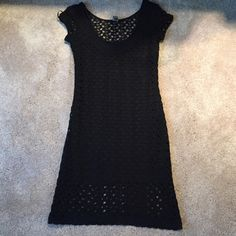 Black Lace Dress Cap sleeved black lace dress. Marked as a medium, but fits like a small. Lightly used and still in great condition! Dresses Mini