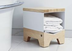 The Log Bench by Six Point Un, originially made to store logs but can hold almost anything.