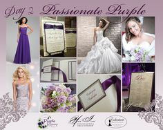 Day 2 Inspiration, Passionate Purple Wedding The Purple Pansy www.purplepansy.ca You're Invited www.youre-invited.ca Enchantment Bridal www.enchantmentbridal.com  Picture of You're Invited Invitations  Enchantment Bridal Dresses &  The Purple Pansy Floral Arrangements