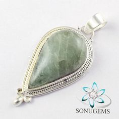 925 Sterling Silver Natural Aventurine Cabochon Women by SONUGEMS