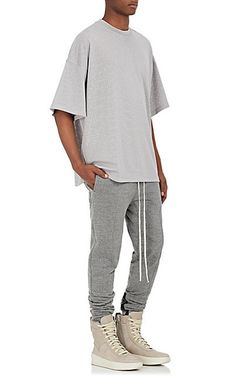 FEAR OF GOD Athletic Mesh Oversized T-Shirt - Tops - 505220184
