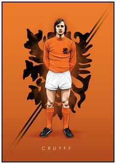 Johan Cruyff of Holland wallpaper. Football Icon, Football Gif, Retro Football, World Football, Vintage Football, Football Player Drawing, Soccer Drawing, Football Players, Livescore Soccer