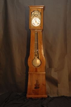 French Morbier Comtoise Grandfather Clock