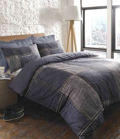 patchwork denim bedding
