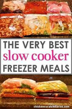 Sloppy Joes (Crockpot Freezer Slow cooker recipes: Freezer dump meals that you can make in one hour and eat all week long.Slow cooker recipes: Freezer dump meals that you can make in one hour and eat all week long. Freeze Ahead Meals, Slow Cooker Freezer Meals, Healthy Freezer Meals, Slow Cooker Recipes, Crockpot Recipes, Cooking Recipes, Healthy Recipes, Crock Pot Dump Meals, Budget Freezer Meals