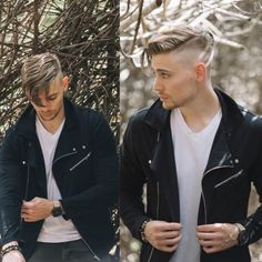 Perfect jacket and cool hairstyle.
