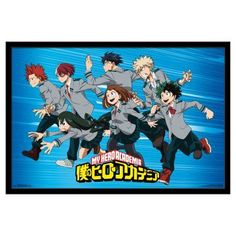 Trends International My Hero Academia Group Poster - FR15512BLK22X34