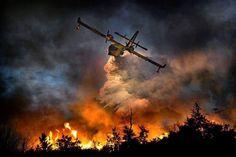 Fire was near La Ronge Sk. - Looks like an Award Winning Picture.