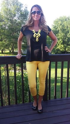 Black & Yellow Teacher Clothing Blog