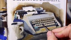 Watercolor Tutorial: Painting a Typewriter Step-by-Step