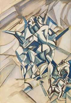 Figure composition (Man and woman with two bulldogs) Artist Percy Wyndham Lewis England 18 Nov 1882 - 07 Mar 1957 Wyndham Lewis, Abstract Art Images, Georges Braque, Social Art, Design Graphique, Artist Life, Sculpture Art, Modern Art, Cool Art
