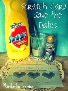 Scratch Cards - save the date / baby announcement ideas