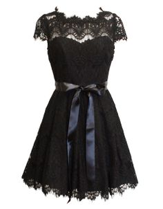 little black lace dress by Xscape, $250 | #HudsonsBayHoliday