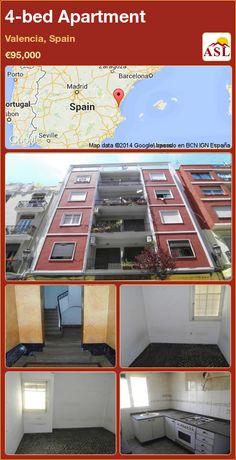 4-bed Apartment in Valencia, Spain ►€95,000 #PropertyForSaleInSpain