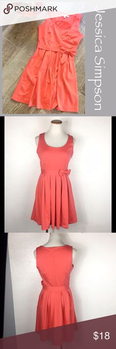Lauren Conrad Summer Dress Lauren Conrad Coral Bow Dress. Side zip with empire waist. Size 6. Preowned  Measurements  Bust 17.5 Waist 13.5 empire Length 33.5 from shoulder. Bundle in my closet and save. I ship same day or next day almost always! No trades. Suggested user and top-rated seller LC Lauren Conrad Dresses