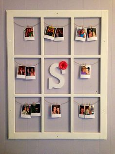 "Old window ""Polaroid"" display!"