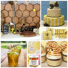 """""""Meant to Bee"""" Bridal Shower Inspiration Board"""