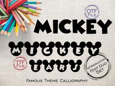 This item is unavailable Mickey Font, Mickey Ears, Font Software, Ttf Fonts, Alphabet And Numbers, Calligraphy Fonts, Disney Mickey, Design Elements