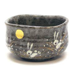 Amazon.com: Japanese Matcha Bowl Rabbit KUTANI YAKI(ware): Kitchen & Dining