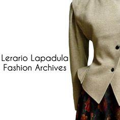 UNGARO wool suit detail Mid 80s. Lerario Lapadula Fashion Archives.  #vintage #80s #fashion #couture #fashionmuseum #perioddress #moda #history #storia #dress #abito #tailleur