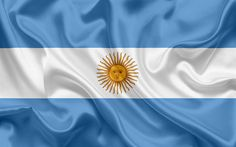 Descargar fondos de pantalla Bandera argentina, Argentina, América del Sur, la seda, la bandera de Argentina