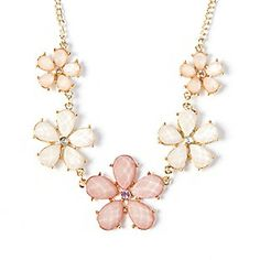 Gem Flowers Bib Necklace from Claire's $12.50