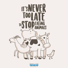 It's never too late to stop eating animals. #vegan