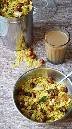 Poha chivda is basically a sweet and spicy, Indianized version of atrail mix. Poha ( flattened rice) is combined with dried fruits, coconut and raisins and tempered with mustard seeds, curry leaves and few other ingredients. Each household probably has their own little variation to this chivda.Mostly this is prepared as a savory snack during … … Continue reading →