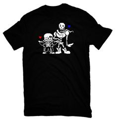 Undertale t-shirt video game skull skeleton mens by tomasthing